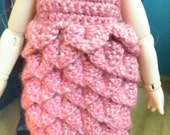 Medium Pink petal dress for Littlefee dress & hat