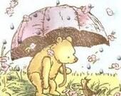 Pooh's Rainy Day Cross Stitch Pattern PDF