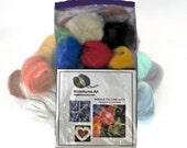 Ornament Needle Felting Kit, DIY Craft Kit, garland kit, wool ornament kit,  Perfect all occasion gift or holiday project starter kit