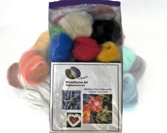 Ornament Needle Felting Kit, DIY Craft Kit, garland kit, wool ornament kit,  holiday ornament starter kit
