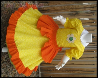 Princess Daisy Inspired Custom Princess Dress Costume - Cotton Collection