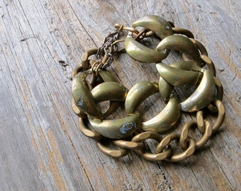Layered Chain Bracelets / Vintage Brass / Chunky Chain Bracelet / Layering Bracelets / Vintage Brass Chain Bracelets / Individual or Pair