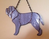 Neapolitan Mastiff Stained Glass