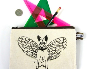 Basenji Angel Dog Pencil Case / Travel Case / Makeup Bag