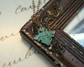 Verdigris Bee Necklace