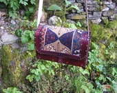 Carpet bag purse handbag from antique  kelim