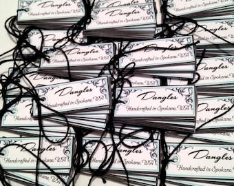 Customized 1.5 x 5/8 inch Mini Jewelry Tags - Set of 160