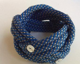 Blue Climbing Rope Bracelet