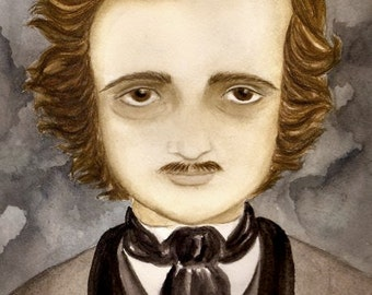 Edgar Allen Poe, Original painting by Cat Mallard