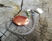 Copper Leaf  Mixed Elements Bracelet