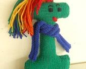 Alphabet Eco Friendly Learning Toy,  Handknit Letter Stuffed Plush,  Back to School, Custom knit
