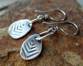 Tree Hugger Earrings Silver Nugget Tree Earrings