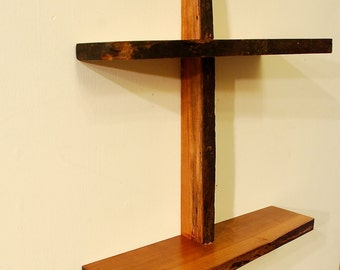 No. 31 - Two Level Cherry Live Edge Shelf