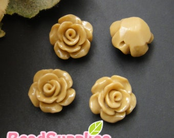 CA-CA-08306 - Petite rose(with hole from left and right), latte, 6 pcs