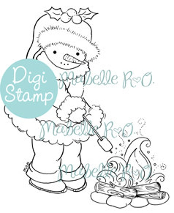 Instant Download Digi Stamp: Snowy