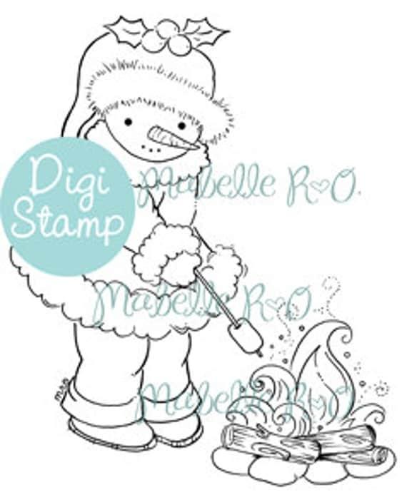 Instant Download Digi Stamp: Snowy