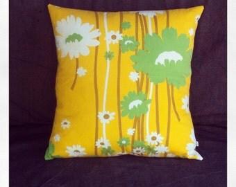 vintage cushion - sunshine and daisies