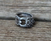 Spoon Ring Vintage Silver Size 9, Gifts For Her, Anniversary Ideas