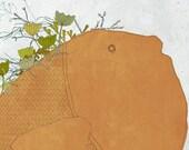 Creature P- Art -Print of an original illustration - fish - nature - flowers