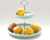Fruit Basket - 2-tiered Fruit Bowl - MADE TO ORDER - color options
