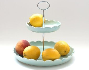 Fruit Basket - 2-tiered Fruit Bowl - MADE TO ORDER - color options
