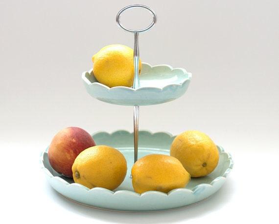Fruit basket 2 tiered fruit bowl made to order color - Tiered fruit bowl ...