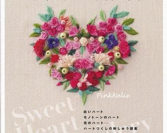 Ayako Otsuka - Sweetheart Embroidery - Japanese Craft Book