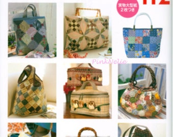 Everyday Patchwork Bags and Pouches -  Japanese Craft Book