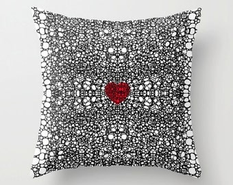 Throw Pillow Heart Art COVER Design For Your Home Black And White Chair Cross Pattern Artsy Decorating Made Easy Living Room Bedroom Bedding