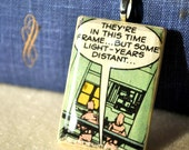 Game Piece Pendant necklace - Comic Book Jewelry - Geek Jewelry - They're In This Time Frame