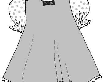 "10"" Ann Estelle/Patsy doll clothes pattern for A-line dress  PDF"