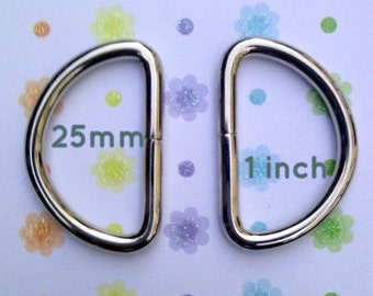 80 Pieces Large Unwelded D rings - 1 inch / 25 mm for bags and other sewing projects
