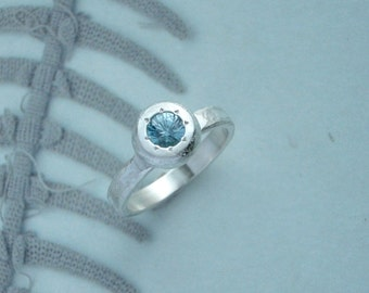 Star Ring - Blue Zircon