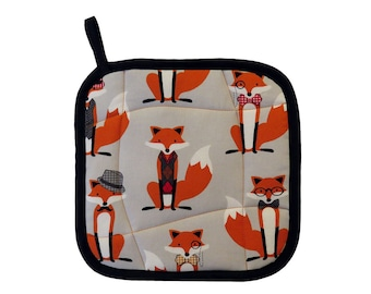 Fox and the Houndstooth Pot Holder