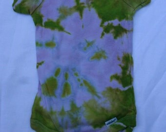 Tie Dye Onesie Baby Age 3 - 6 Months Pink Blue Yellow Green JakeDied
