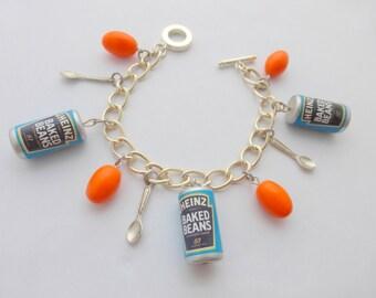Heinz Baked Beans Charm Bracelet