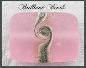 "Rose Pink Ice...""Sea Glass"" Focal Bead...Handmade Lampwork Bead, Made To Order, SRA"