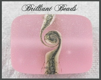 "Rose Pink Ice...""Sea Glass"" Focal Bead...Handmade Lampwork Bead, Made To Order, SRA"