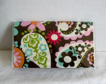 Business Card Holder Paisley Floral Mini Wallet