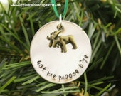 Moose Charm Christmas Newfoundland Tree Ornament Custom Hand stamped Got me moose CH020