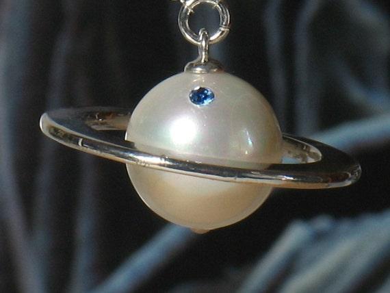 Saturn Necklace Custom Made, Hana Yori Dango, Gift for Girlfriend, Boys Over Flowers, jdrama, Pearl Necklace, Birthstone Necklace, Handmade