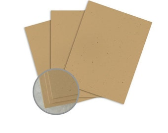 Kraft Card Stock - 8 1/2 x 11 in 80 lb Cover Smooth 30% Recycled 10 sheets 80lb
