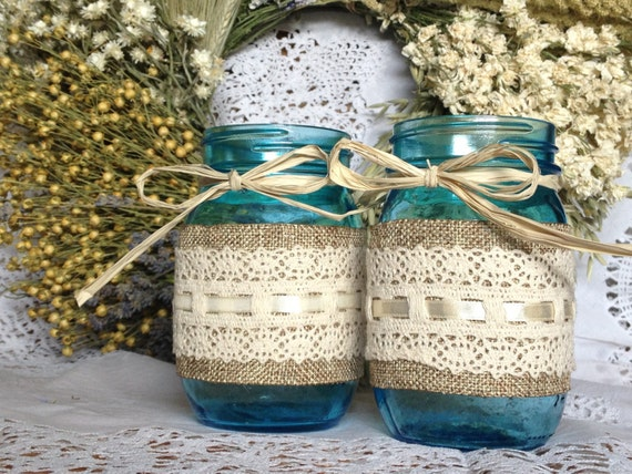 wedding mason jars decorated mason jars vintage by queenbeader