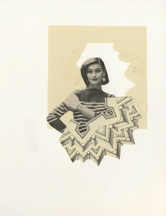 Prison of her own making.   Original collages by Vivienne Strauss.