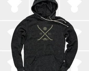 Skateboard Hoodie Gift, Men's Pullover Sweatshirt, Skateboard Elements, Men's Clothes, Skateboard Deck, Gift for Boyfriend, Gift for Men