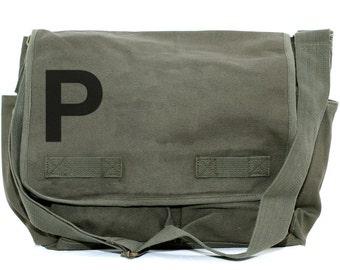 Messenger Bag, Monogram Bag, Personalized Bag, Initial Bag, Crossbody Canvas Bag, Personalized Groomsmen Gift, Men & Women's Messenger Bag