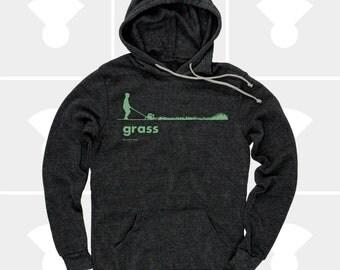 Grass Men's Hoodie, Sweatshirt, Grass, Spring, Summer, Outdoors, Garden, Green, Funny, Black Sweatshirt (3 Colors) Pullover Hoodie for Men
