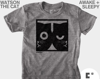 Dueling Watson the Cat - Boys & Girls Unisex TShirt