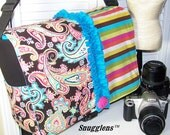 Camera Bag Extra Large BOSS  patti paisley and stripe ruffles and rosette-Snugglens