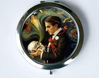 Magician Compact MIRROR Pocket Mirror spirits devils